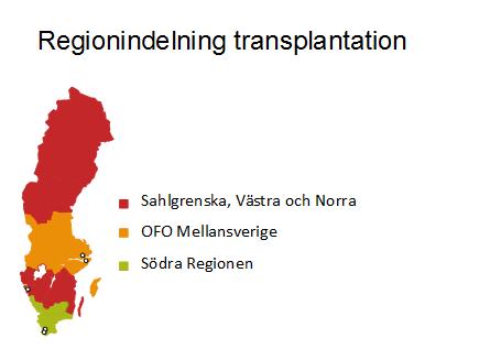 Regionindelning transplantation